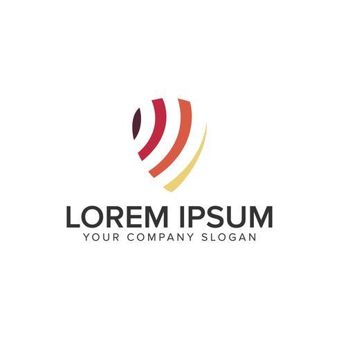 modèle de concept de design d'empreinte digitale logo.