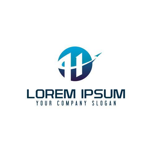 modèle de concept de lettre H voyage logo design