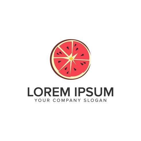 modèle de concept de design logo pastèque