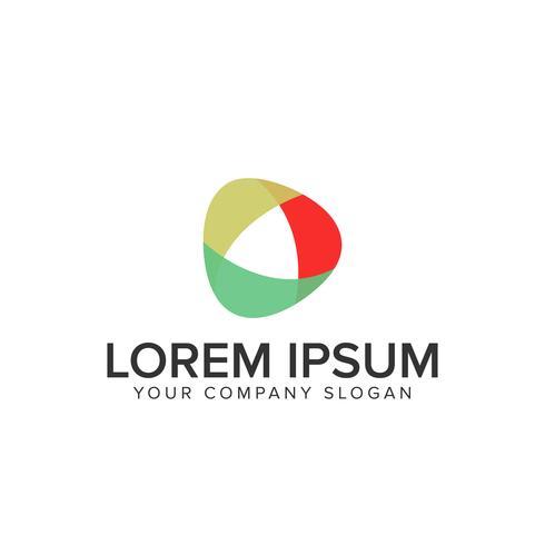 modèle de conception de logo multimédia