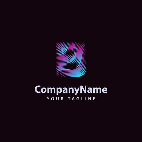 Letter B moderne Wave lijn Logo ontwerpsjabloon. vector