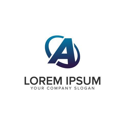 Carta moderna criativa Um projeto do logotipo conc. vecto totalmente editável vetor