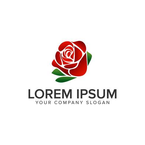Plantilla de concepto de diseño de logotipo de flor rosa. vector completamente editable