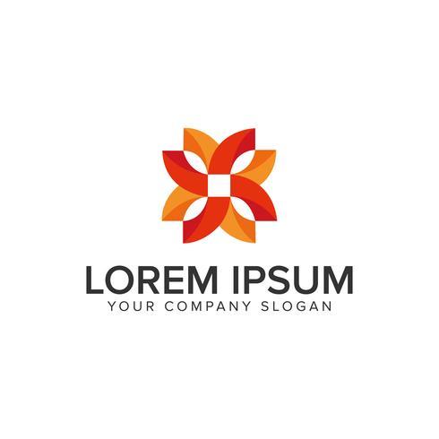 Modelo de conceito de design de logotipo abstrato decoração criativa
