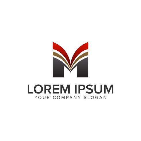 Modèle de concept de design lettre M logo de luxe. vec entièrement éditable
