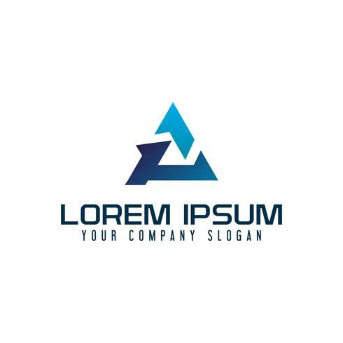 letra Um logotipo do triângulo. modelo de conceito de design moderno