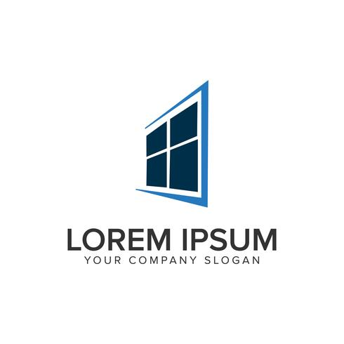 modello di concetto di design di finestra di casa logo.