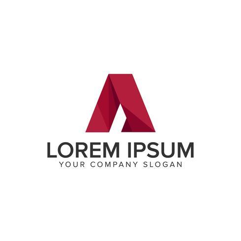 Modern letter A business technology Modelo de conceito de design de logotipo