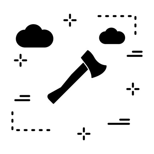 ícone de machado de vetor