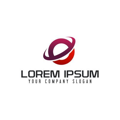 modèle de lettre E technologie communication logo design concept