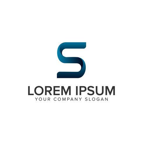 modello di concetto di design del logo di lettera S modrn creativa. completamente edit