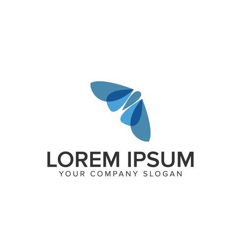modelo de design de logotipo de borboleta