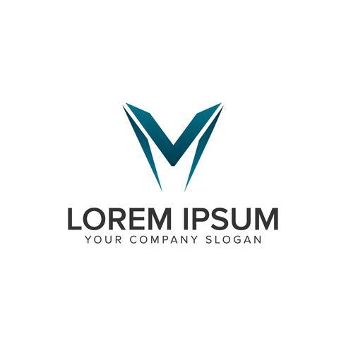 Modern letter W logo design concept template. vector