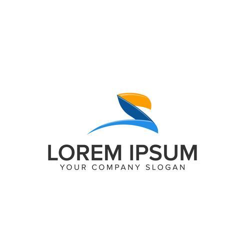 Plantilla de concepto de diseño de logotipo de modrn letra creativa. completamente editado