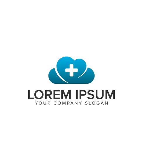 logotipo médico de nuvem