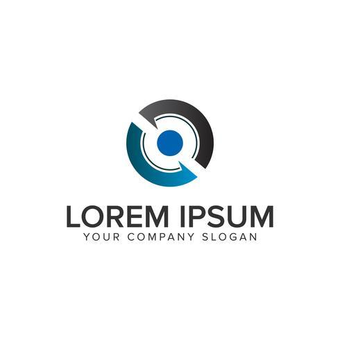 Modello di concetto di logo di rotazione cerchio logo.