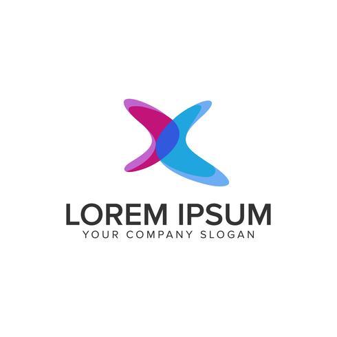 Buchstabe X moderne Logo-Design-Konzept-Vorlage.
