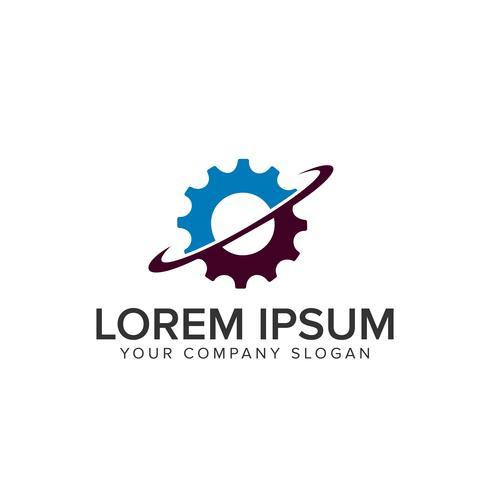 modello di progettazione logo gear