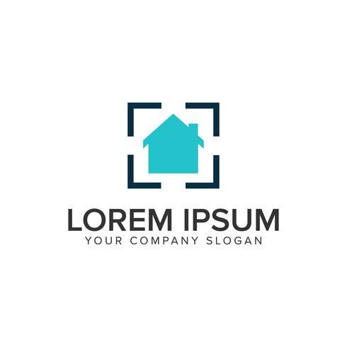 Modelo de conceito de design de logotipo alvo casa.