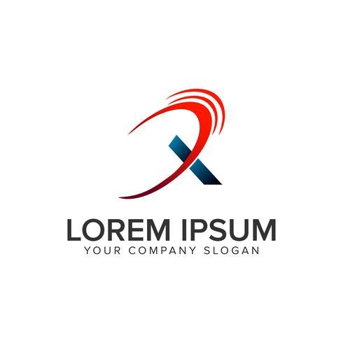 Plantilla de concepto de diseño de logotipo moderno letra x. vec totalmente editable