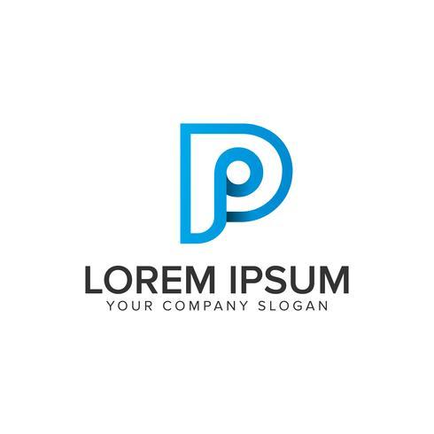 modelo de conceito de design de logotipo moderno letra P.
