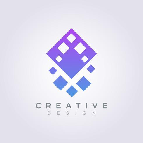 Vector Design de logotipo moderno ícone abstrato símbolo de losango