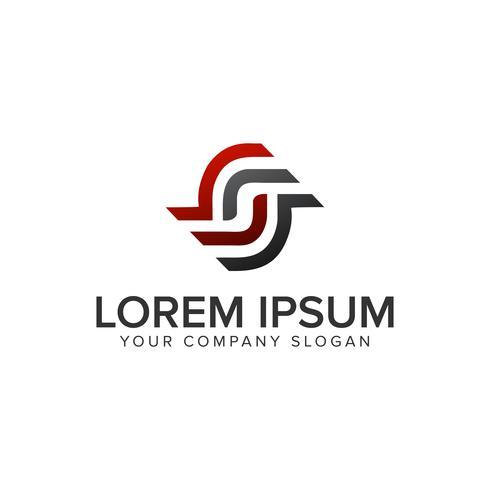 Modelo de conceito de design de logotipo letra S. rotação.