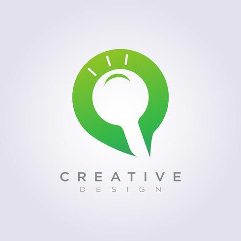 Logo Design Vector Symbol Amplie o ícone