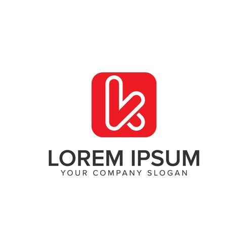 Buchstabe K minimalistische Logo-Design-Konzept-Vorlage.