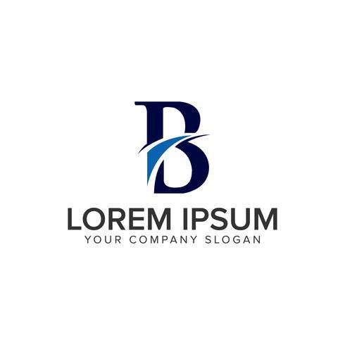 Plantilla de concepto de diseño de logotipo creativo letra B.
