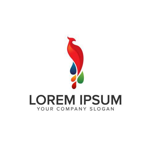 logo oiseau phoenix vecteur