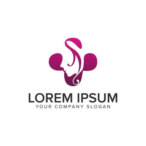 Plantilla de concepto de diseño de logotipo de mujer de spa de belleza. totalmente editable ve