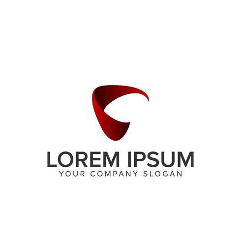 Buchstabe C modernes Logo