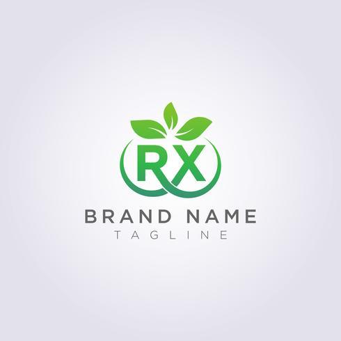 Logo Vector Leaf ícone Design RX carta símbolo