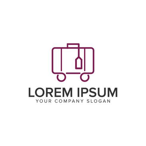 Mala de viagem modelo de conceito de design de logotipo de linha minimalista.