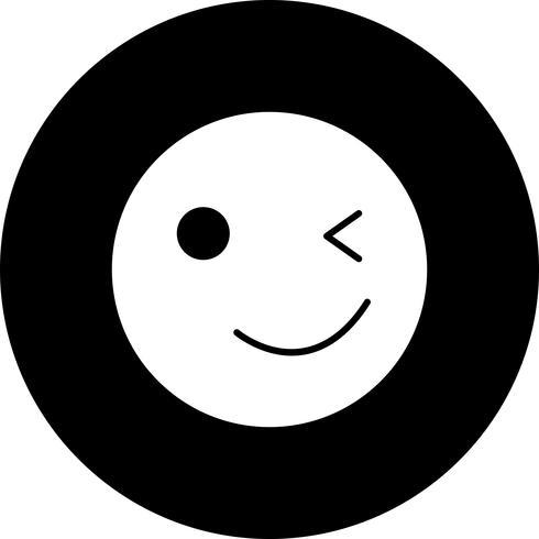Vektor Wink Emoji Icon
