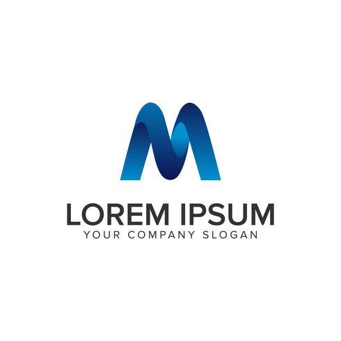Moderne Letter M 3D-logo ontwerpsjabloon. volledig bewerkbaar