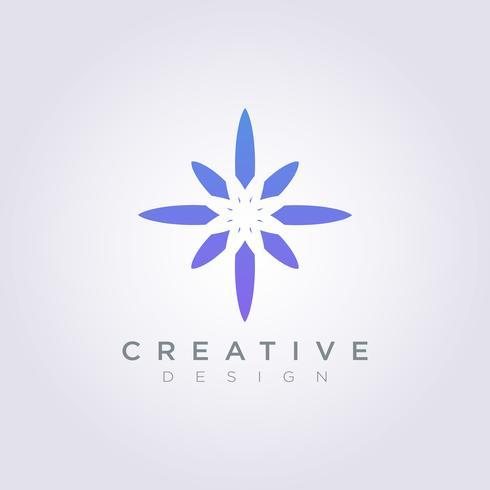 Vector Logo Design Symbol Ícone de estrela moderna decorativa