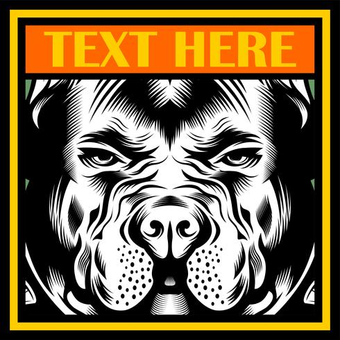 Mean Bulldog Mascot Illustration vektor