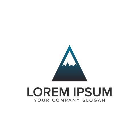 Plantilla de concepto de diseño de logotipo minimalista de montaña