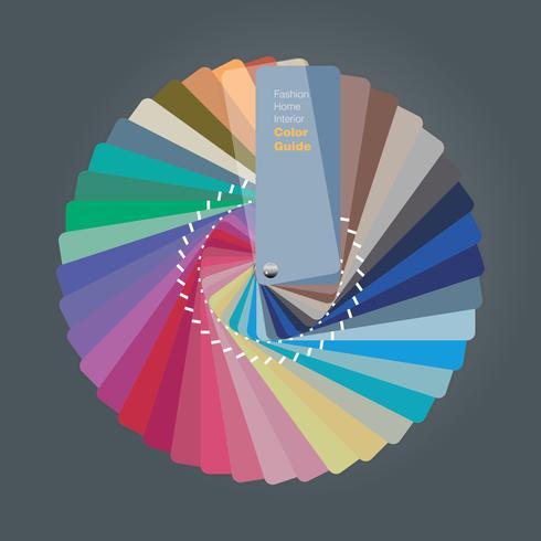 Ilustración de la guía de la paleta de colores para el diseñador de interiores de interiores.