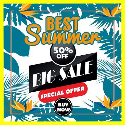 Vector verão grande venda é um vetor de desenho de mão lettering inscrição