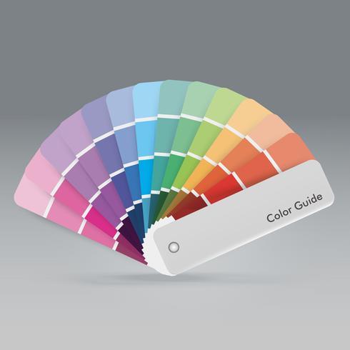 Ilustración de la guía de la paleta de colores para la guía impresa para el diseñador