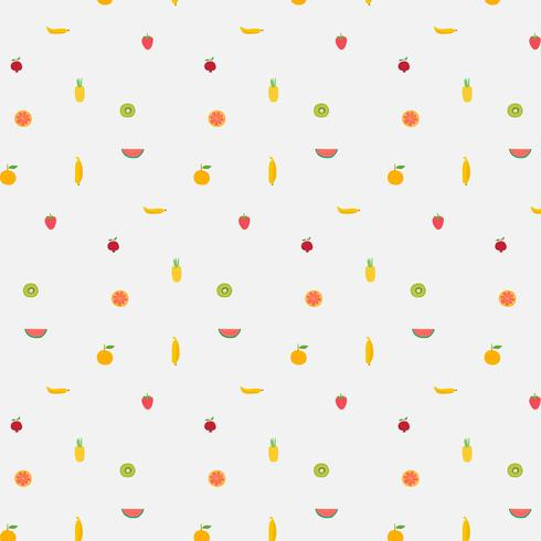Hintergrund Mit Fruchtmuster. Handgezeichnete Vektor-Illustration.