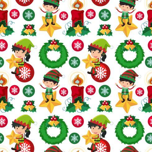 Seamless bakgrundsdesign med julalf