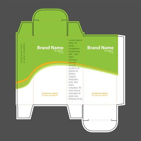 Illustration vectorielle de drogue boîte concept 01
