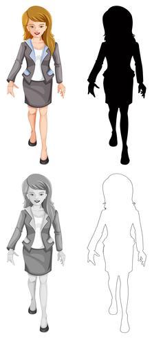 Ensemble de styles de femme différents
