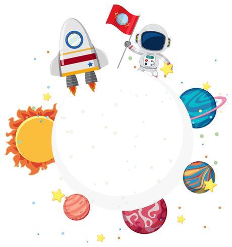 Un élément de l'espace et un astronaute