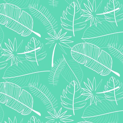 Blad patroon achtergrond. Hand getrokken vectorillustratie. vector