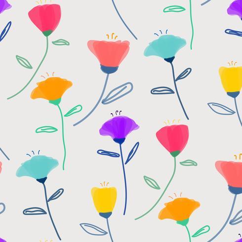 Modèle Avec Fleur Pastel. Fond d'illustration vectorielle
